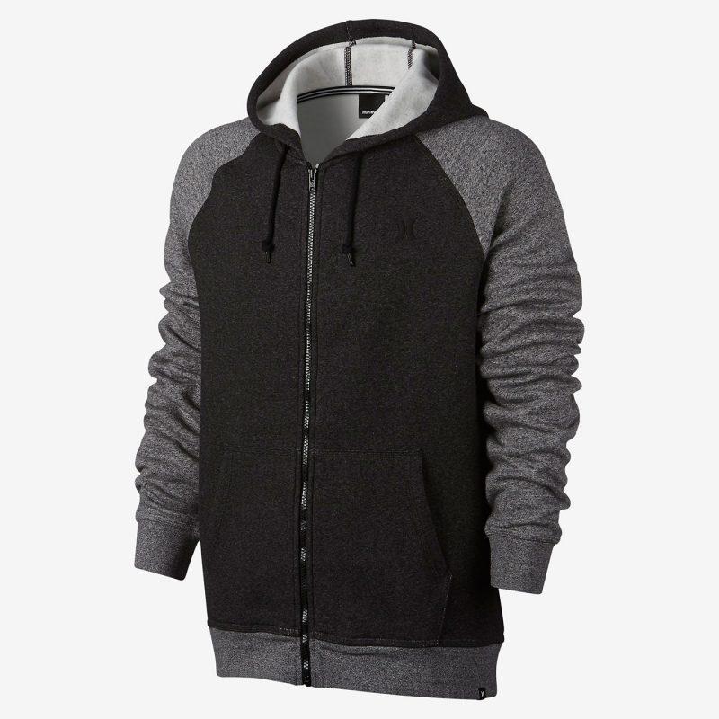 Hurley Getaway 2.0 Fleece Full Zip Hoodie - Front