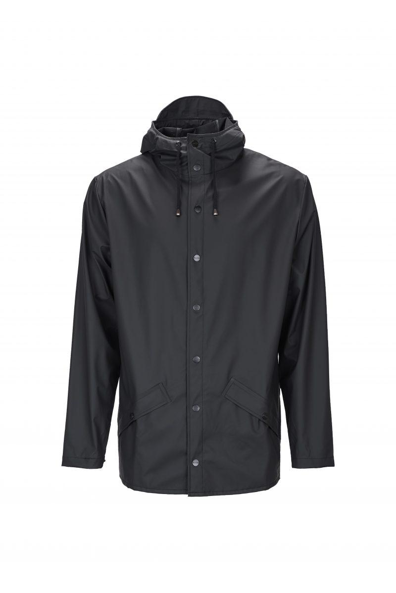 Rains, Jacket, Short, Waterproof, Coat, Mac, Black