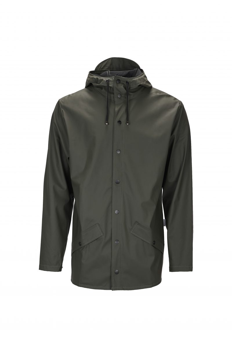 Rains, Jacket, Short, Waterproof, Coat, Mac, Green