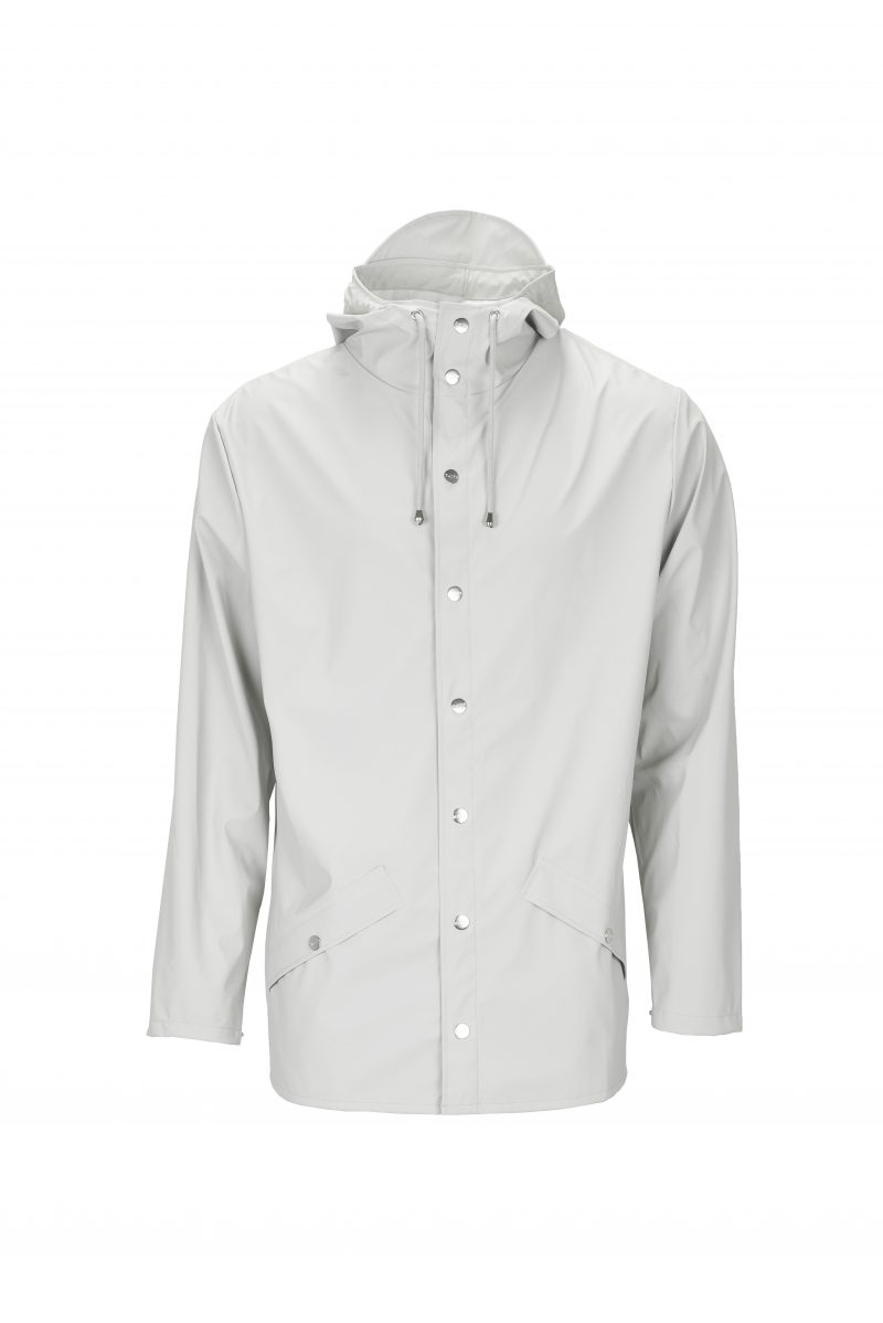 Rains, Jacket, Short, Waterproof, Coat, Mac, Moon, White
