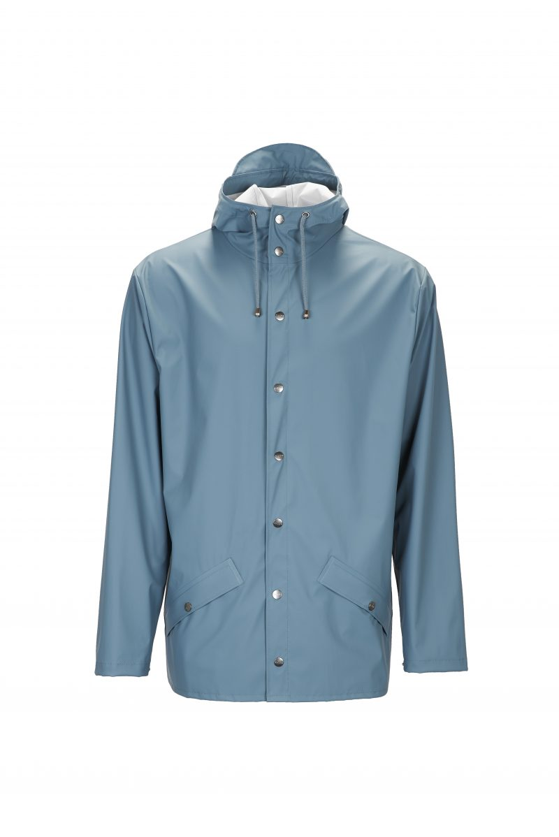 Rains, Jacket, Short, Waterproof, Coat, Mac, Pacific, Blue