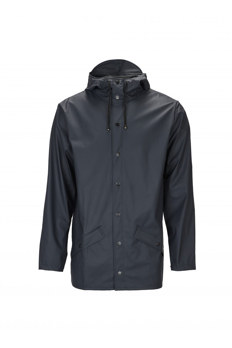 Rains, Jacket, Short, Waterproof, Coat, Mac, Navy, Blue