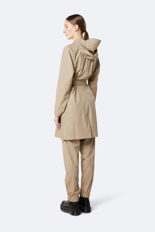 Rains belt jacket beige