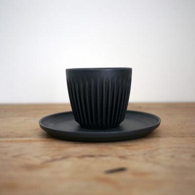 Huskee cup 6oz saucer black