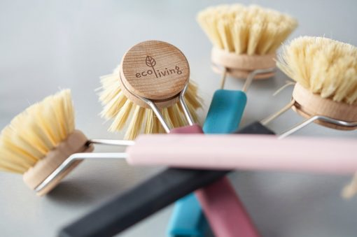 burgundy dish brush