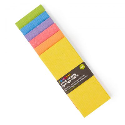 rainbow sponge cloths